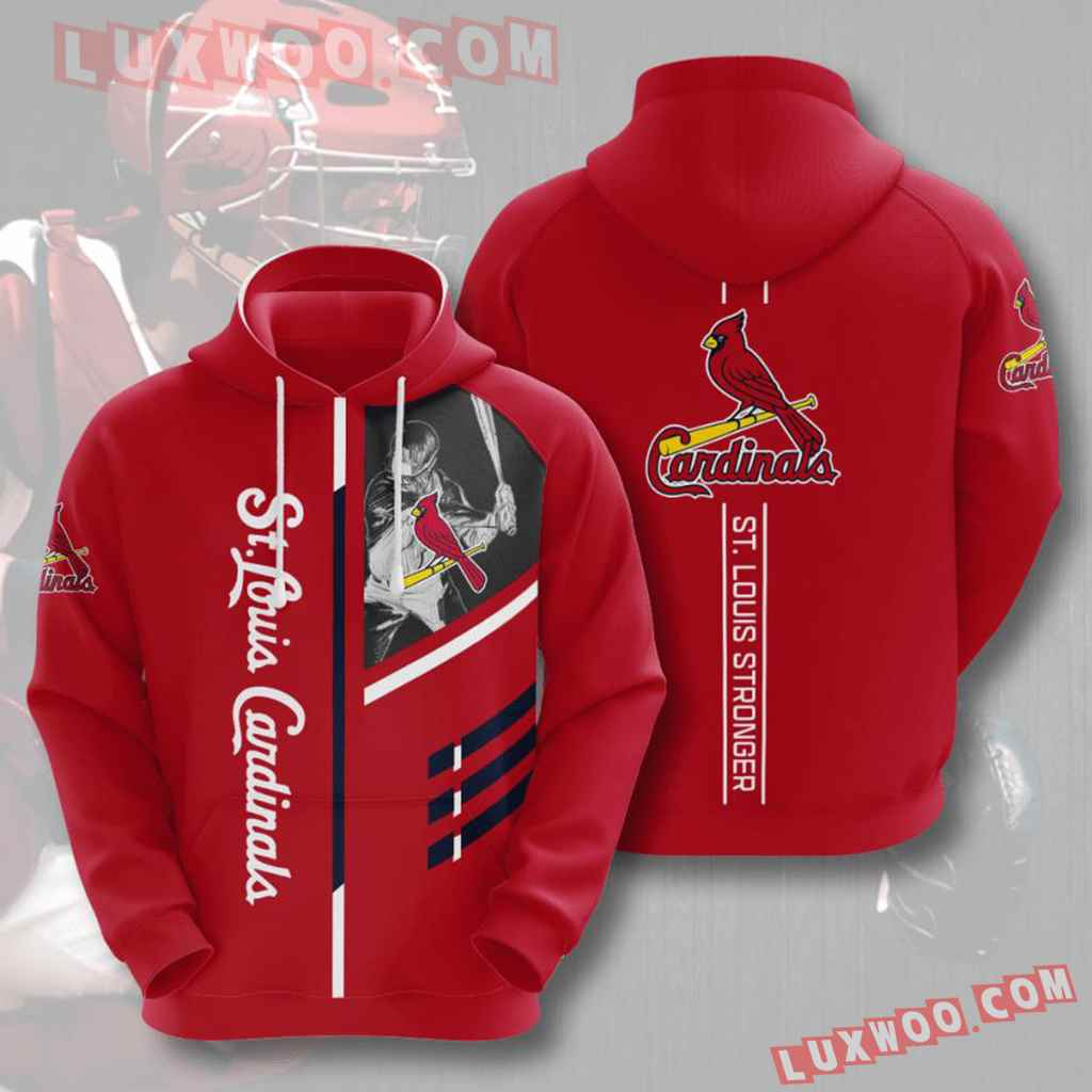 Mlb St Louis Cardinals 3d Hoodies Printed Zip Hoodies Sweatshirt Jacket V1