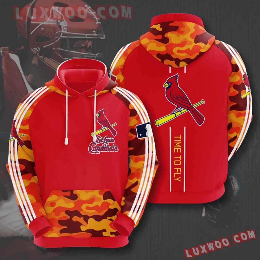 Mlb St Louis Cardinals 3d Hoodies Printed Zip Hoodies Sweatshirt Jacket V10