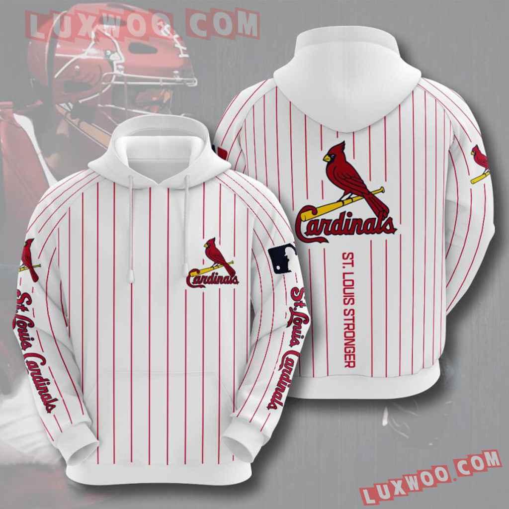 Mlb St Louis Cardinals 3d Hoodies Printed Zip Hoodies Sweatshirt Jacket V11