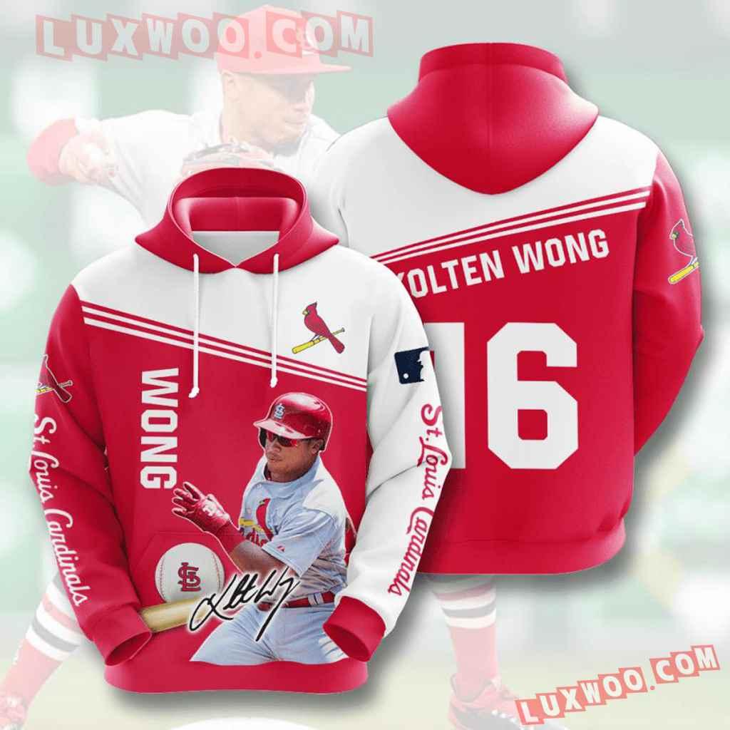 Mlb St Louis Cardinals 3d Hoodies Printed Zip Hoodies Sweatshirt Jacket V12