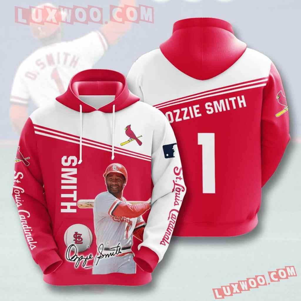 Mlb St Louis Cardinals 3d Hoodies Printed Zip Hoodies Sweatshirt Jacket V13