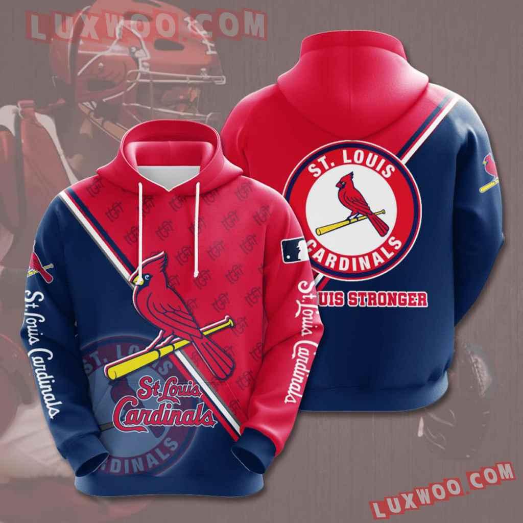 Mlb St Louis Cardinals 3d Hoodies Printed Zip Hoodies Sweatshirt Jacket V14