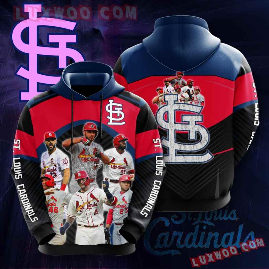 Mlb St Louis Cardinals 3d Hoodies Printed Zip Hoodies Sweatshirt Jacket V15