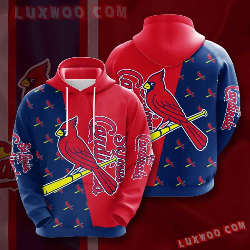 Mlb St Louis Cardinals 3d Hoodies Printed Zip Hoodies Sweatshirt Jacket V16