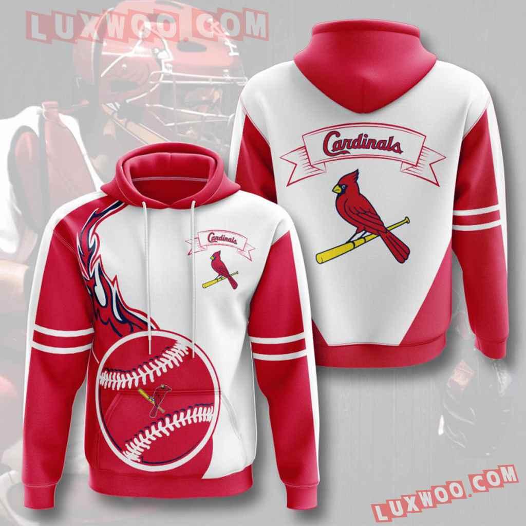 Mlb St Louis Cardinals 3d Hoodies Printed Zip Hoodies Sweatshirt Jacket V17