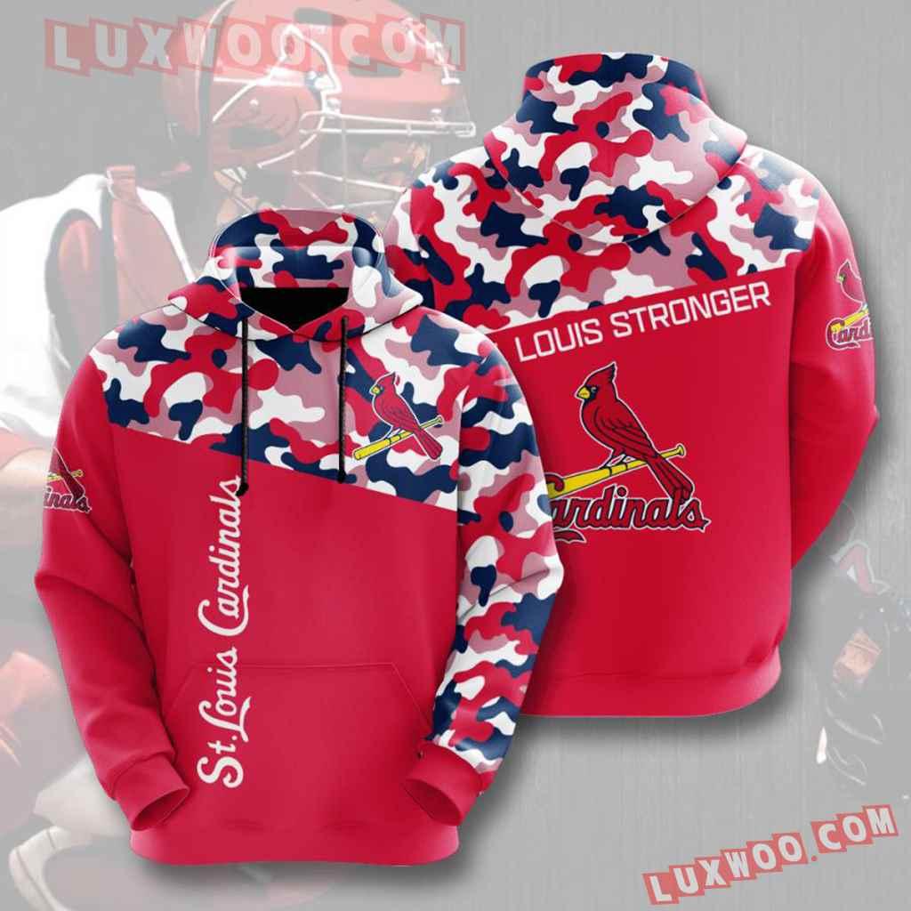 Mlb St Louis Cardinals 3d Hoodies Printed Zip Hoodies Sweatshirt Jacket V18