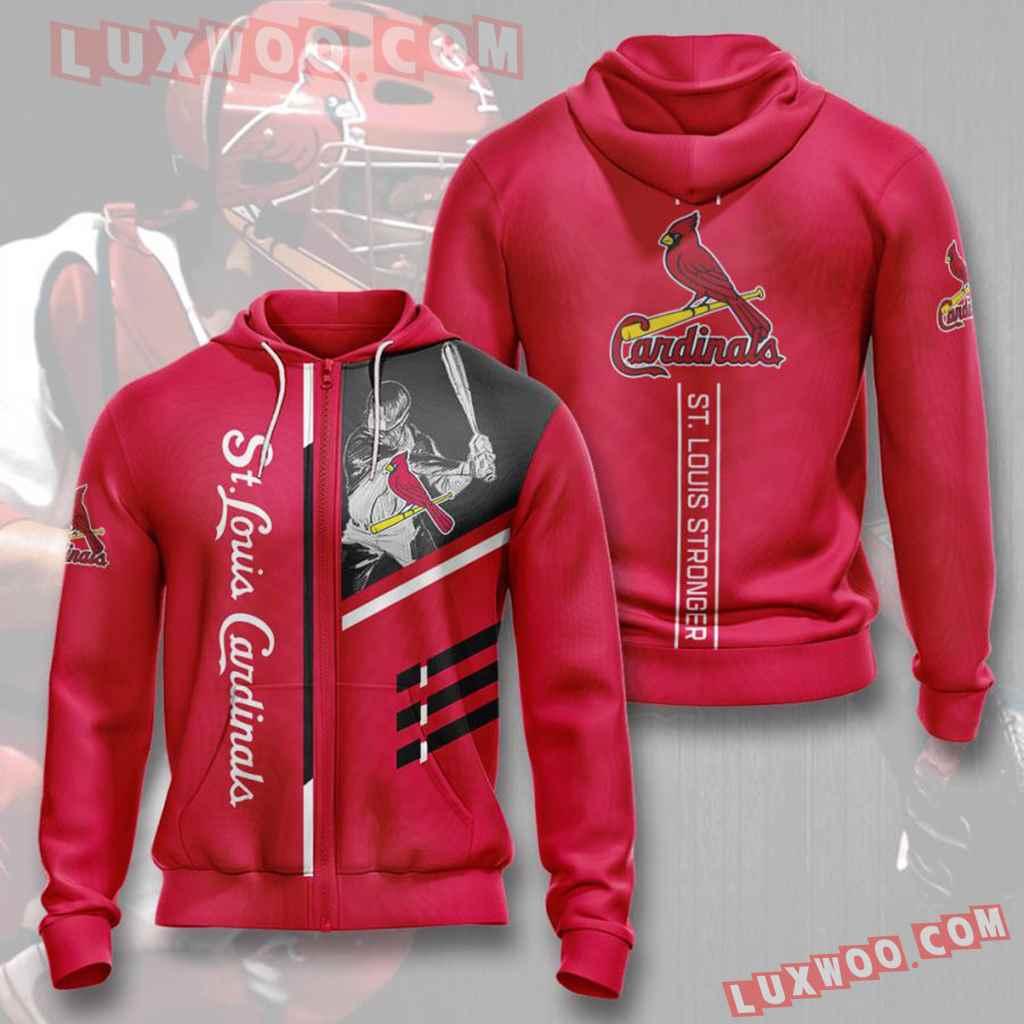 Mlb St Louis Cardinals 3d Hoodies Printed Zip Hoodies Sweatshirt Jacket V20