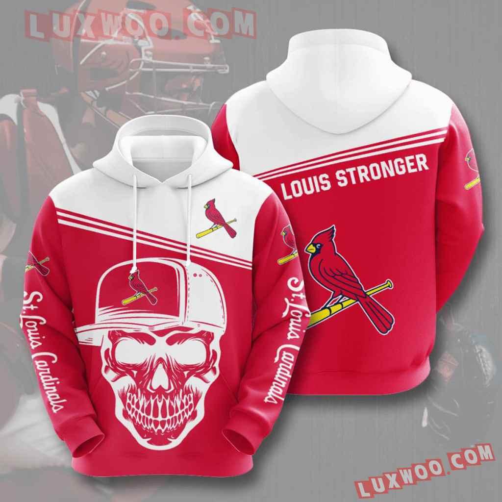 Mlb St Louis Cardinals 3d Hoodies Printed Zip Hoodies Sweatshirt Jacket V4
