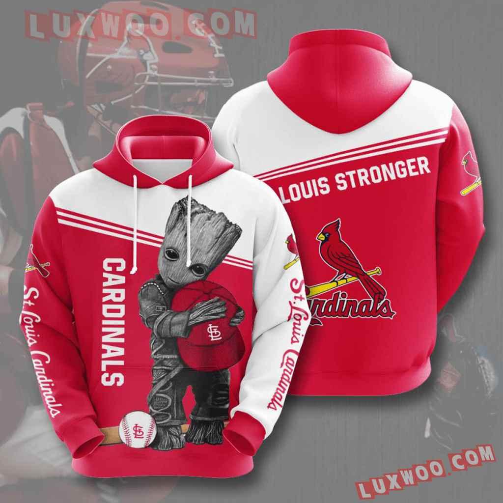Mlb St Louis Cardinals 3d Hoodies Printed Zip Hoodies Sweatshirt Jacket V5
