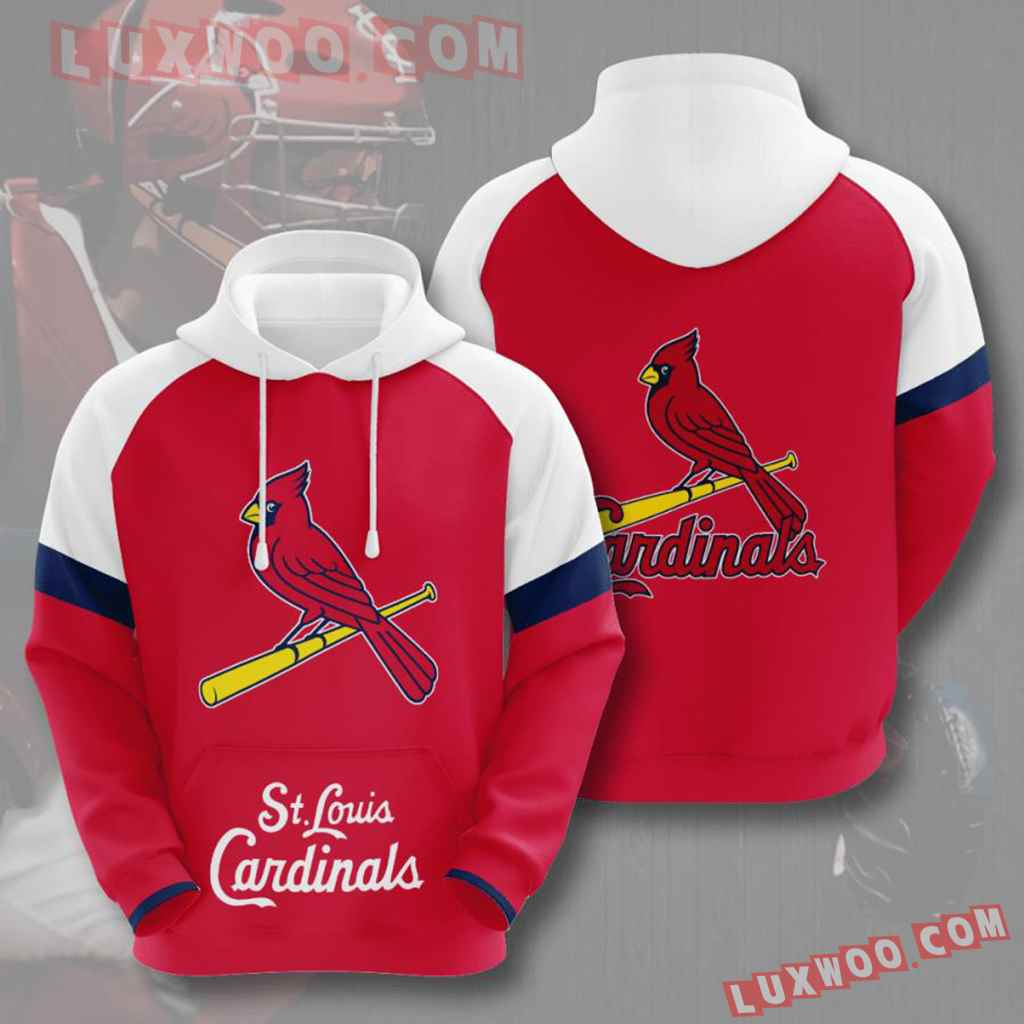 Mlb St Louis Cardinals 3d Hoodies Printed Zip Hoodies Sweatshirt Jacket V6