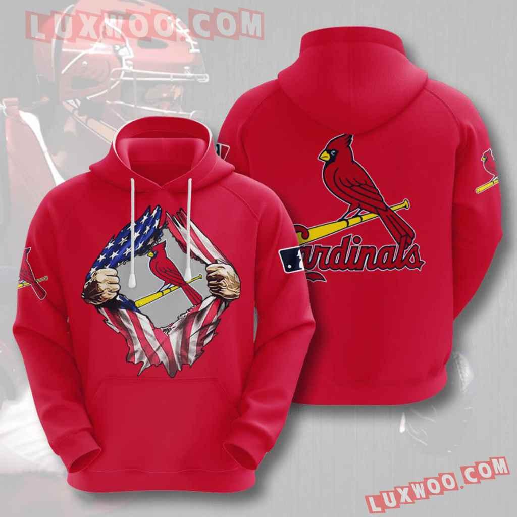 Mlb St Louis Cardinals 3d Hoodies Printed Zip Hoodies Sweatshirt Jacket V7