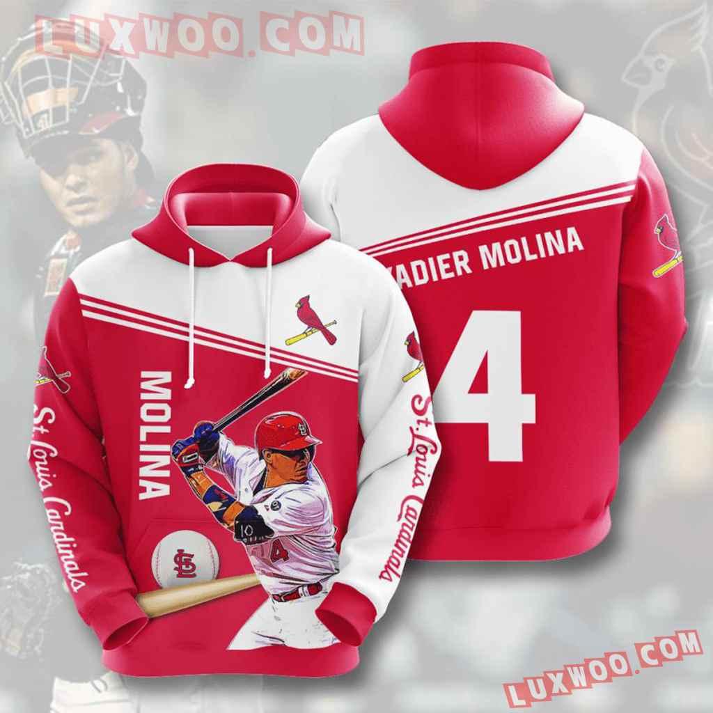 Mlb St Louis Cardinals 3d Hoodies Printed Zip Hoodies Sweatshirt Jacket V8