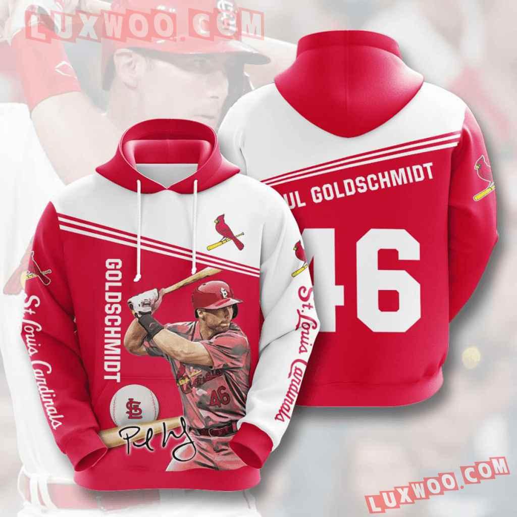 Mlb St Louis Cardinals 3d Hoodies Printed Zip Hoodies Sweatshirt Jacket V9