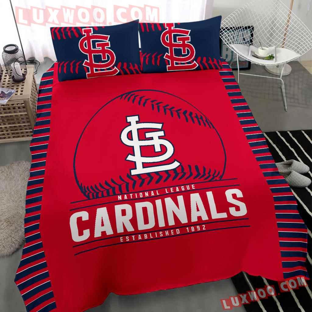 Mlb St Louis Cardinals 3d Quilt Bedding Set V2