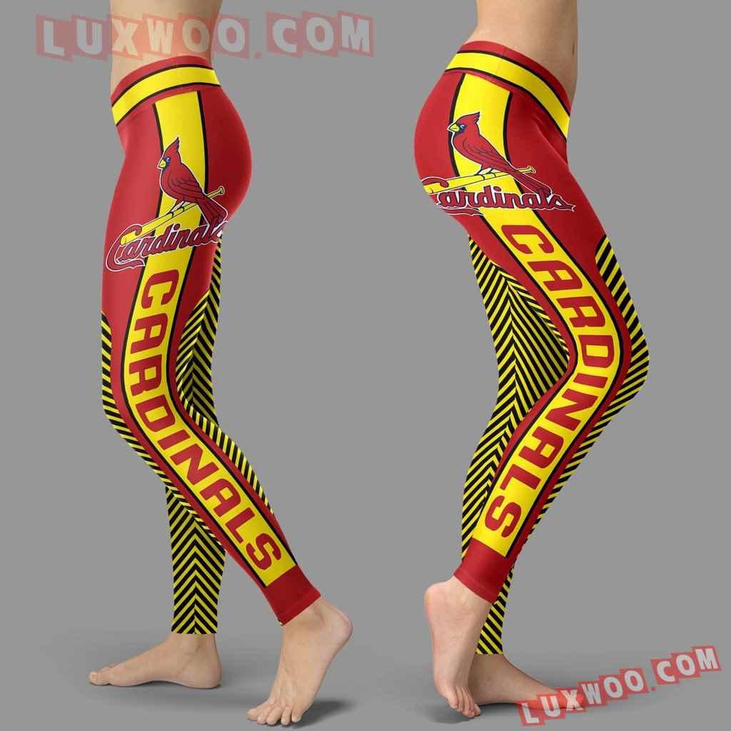 Mlb St Louis Cardinals Leggings 3d Custom Print Leggings Sport V1