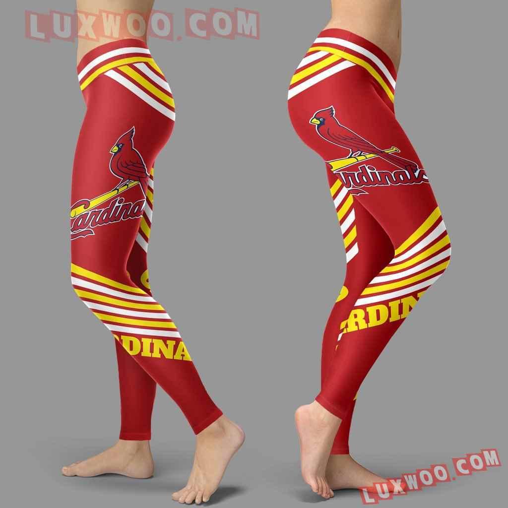 Mlb St Louis Cardinals Leggings 3d Custom Print Leggings Sport V2