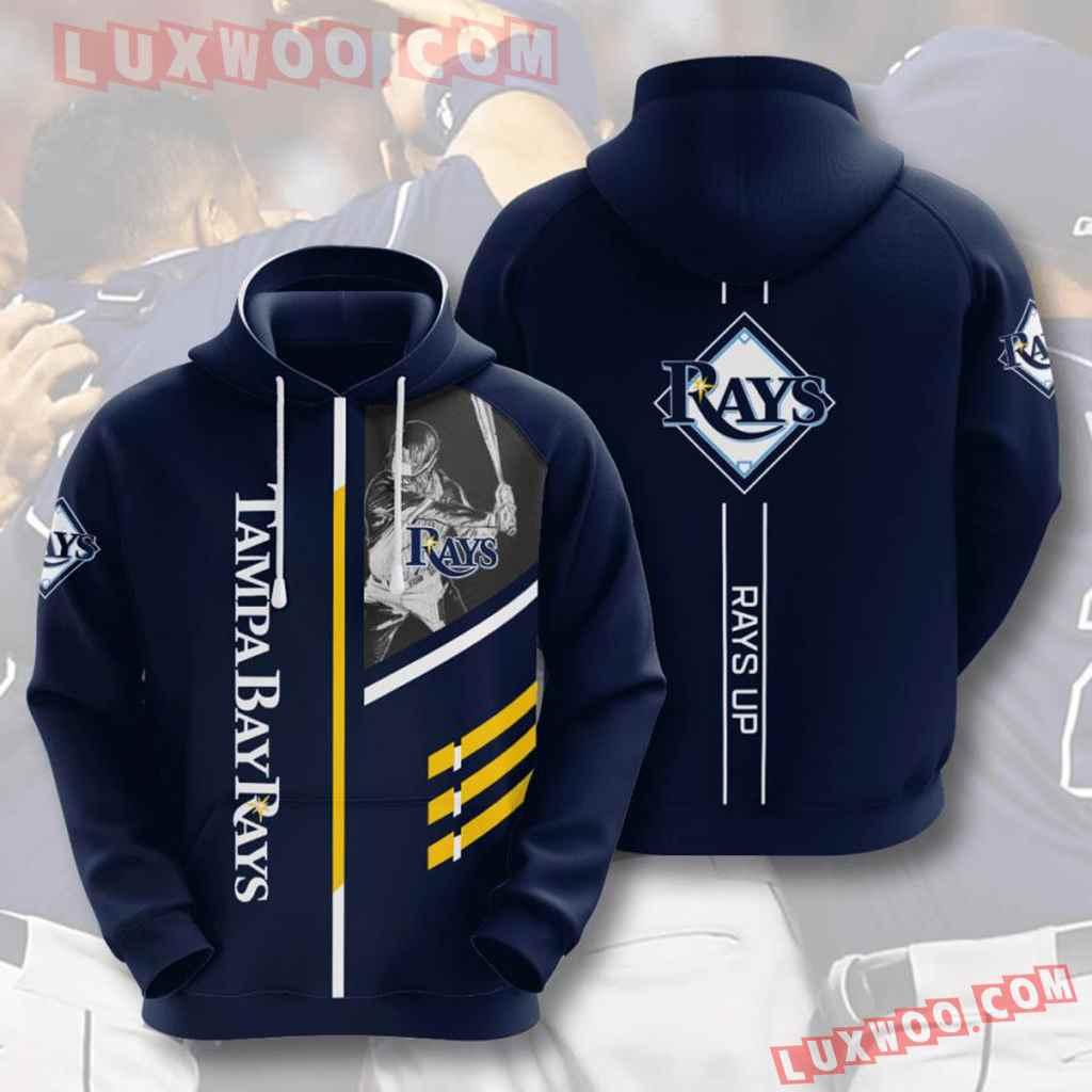 Mlb Tampa Bay Rays 3d Hoodies Printed Zip Hoodies Sweatshirt Jacket V1