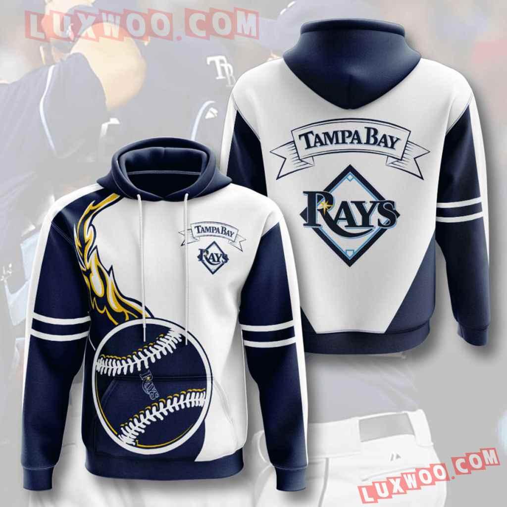 Mlb Tampa Bay Rays 3d Hoodies Printed Zip Hoodies Sweatshirt Jacket V2