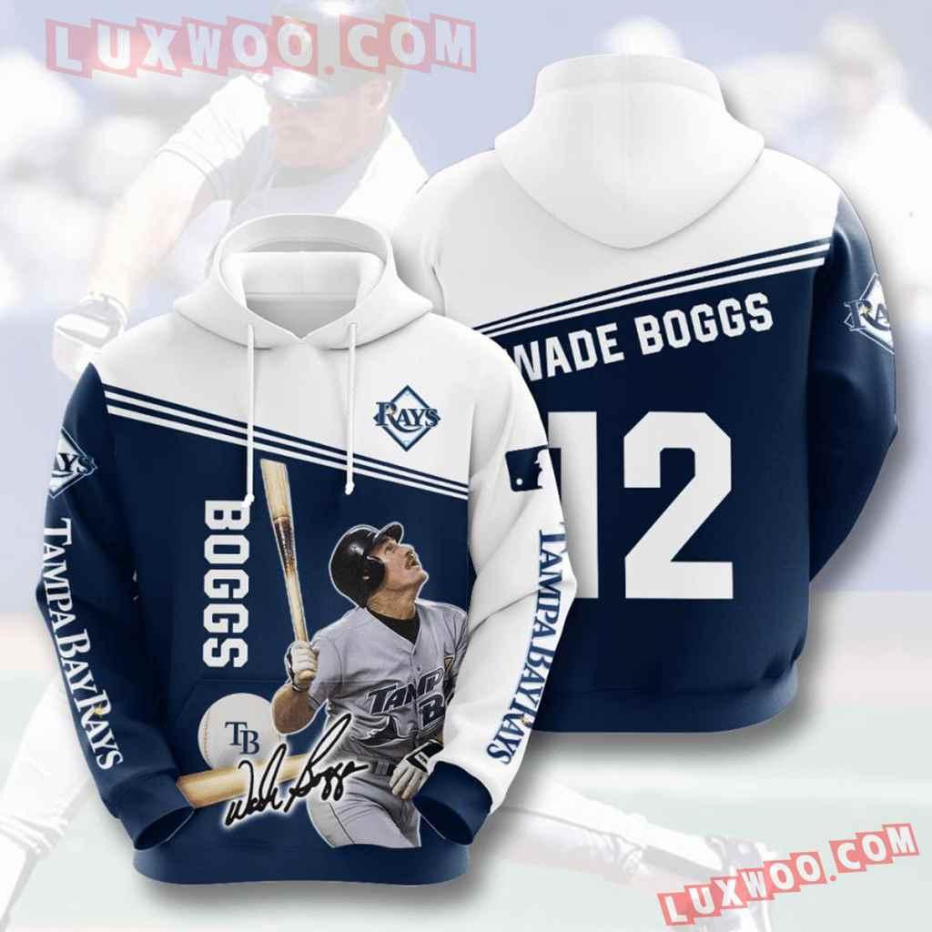 Mlb Tampa Bay Rays 3d Hoodies Printed Zip Hoodies Sweatshirt Jacket V4
