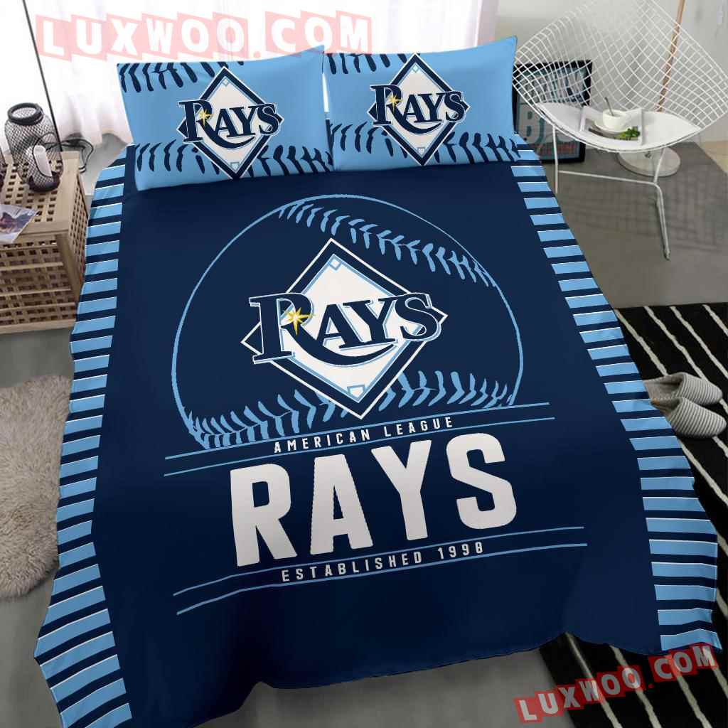 Mlb Tampa Bay Rays 3d Quilt Bedding Set V1