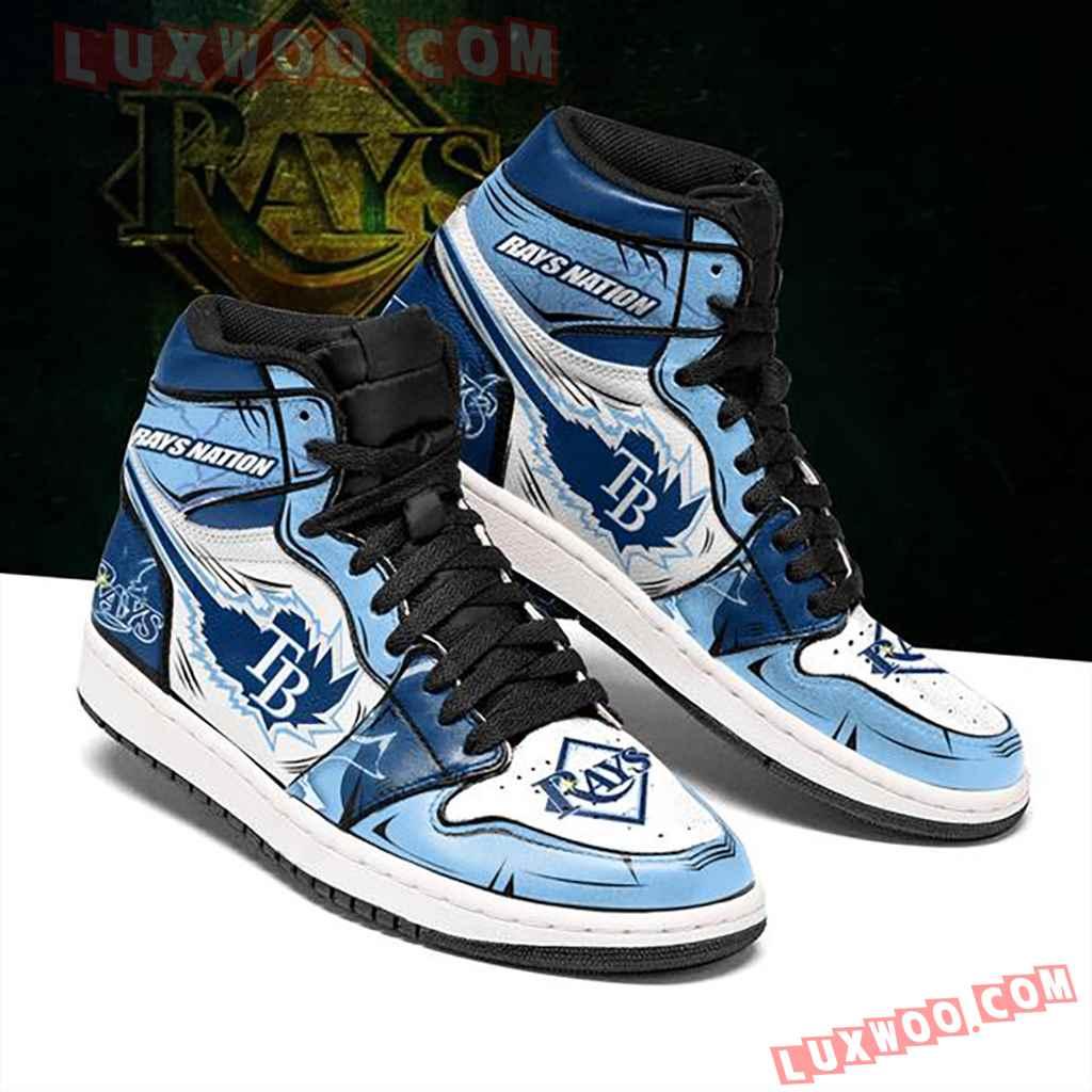 Mlb Tampa Bay Rays Air Jordan 1 Custom Shoes Sneaker V1
