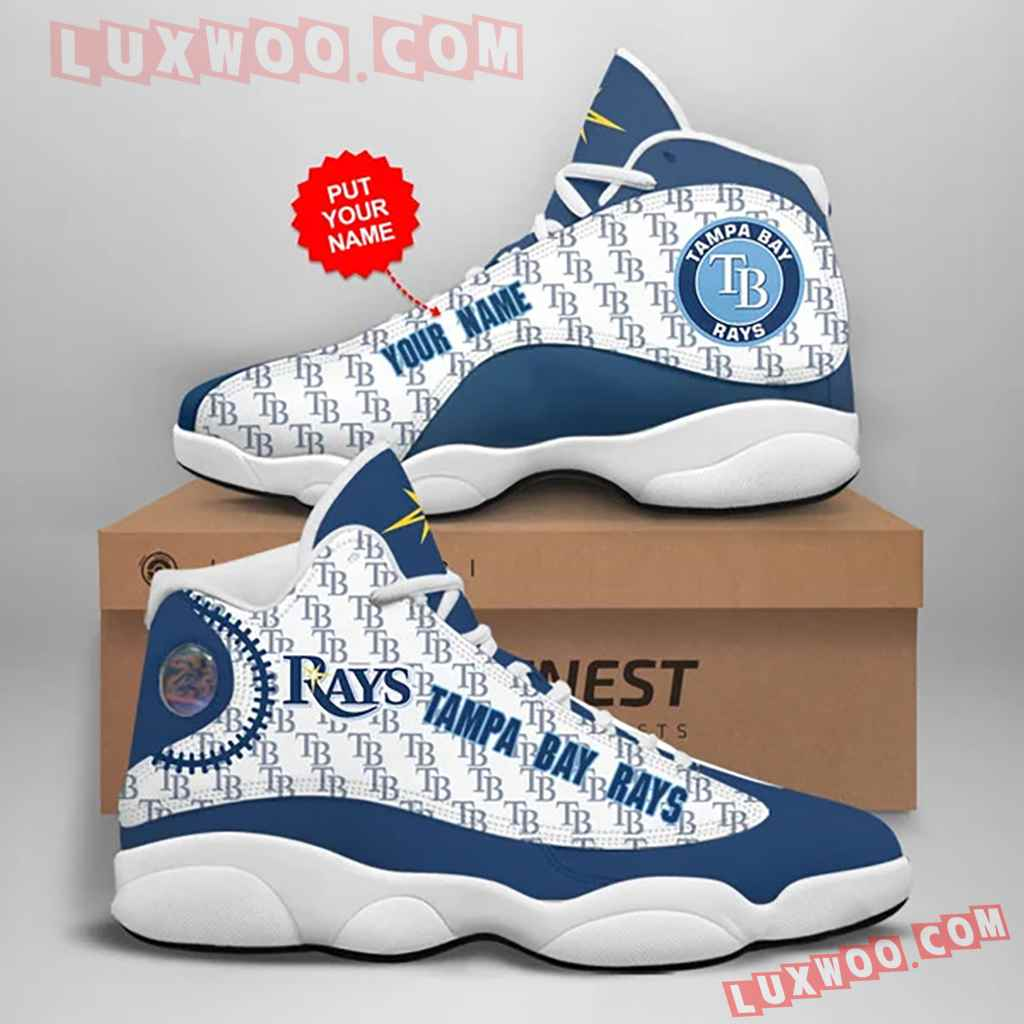 Mlb Tampa Bay Rays Air Jordan 13 Custom Shoes Sneaker V1 Personalized