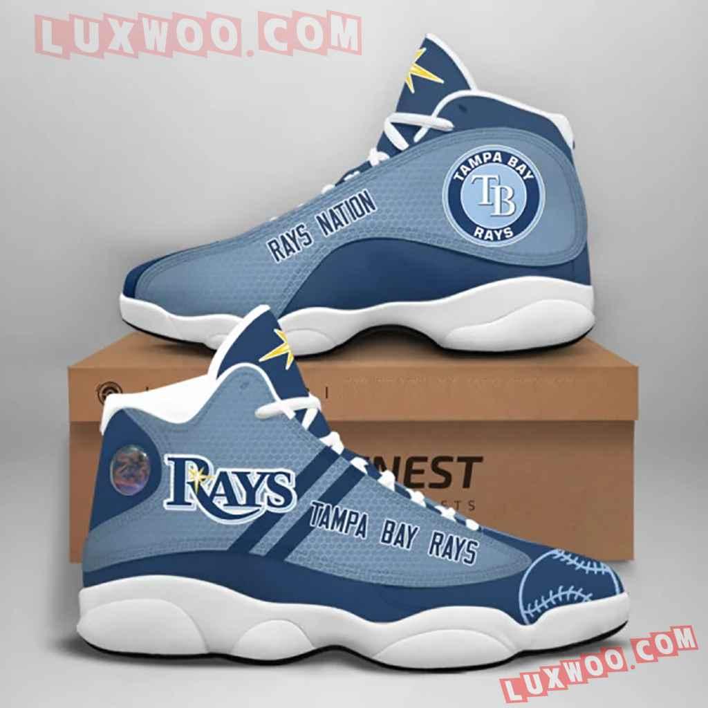 Mlb Tampa Bay Rays Air Jordan 13 Custom Shoes Sneaker V1