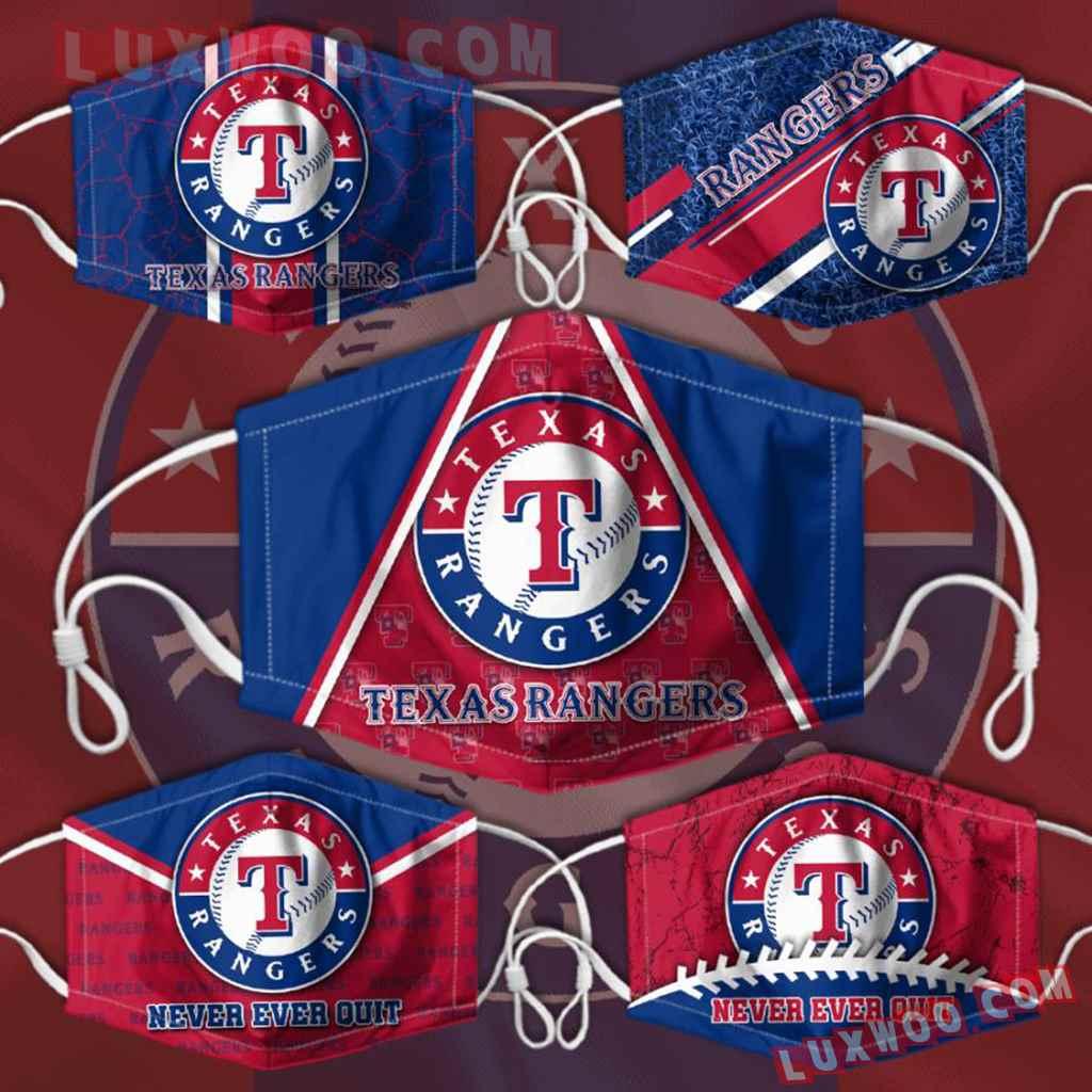 Mlb Texas Rangers 3d Face Mask Combo 5 V1