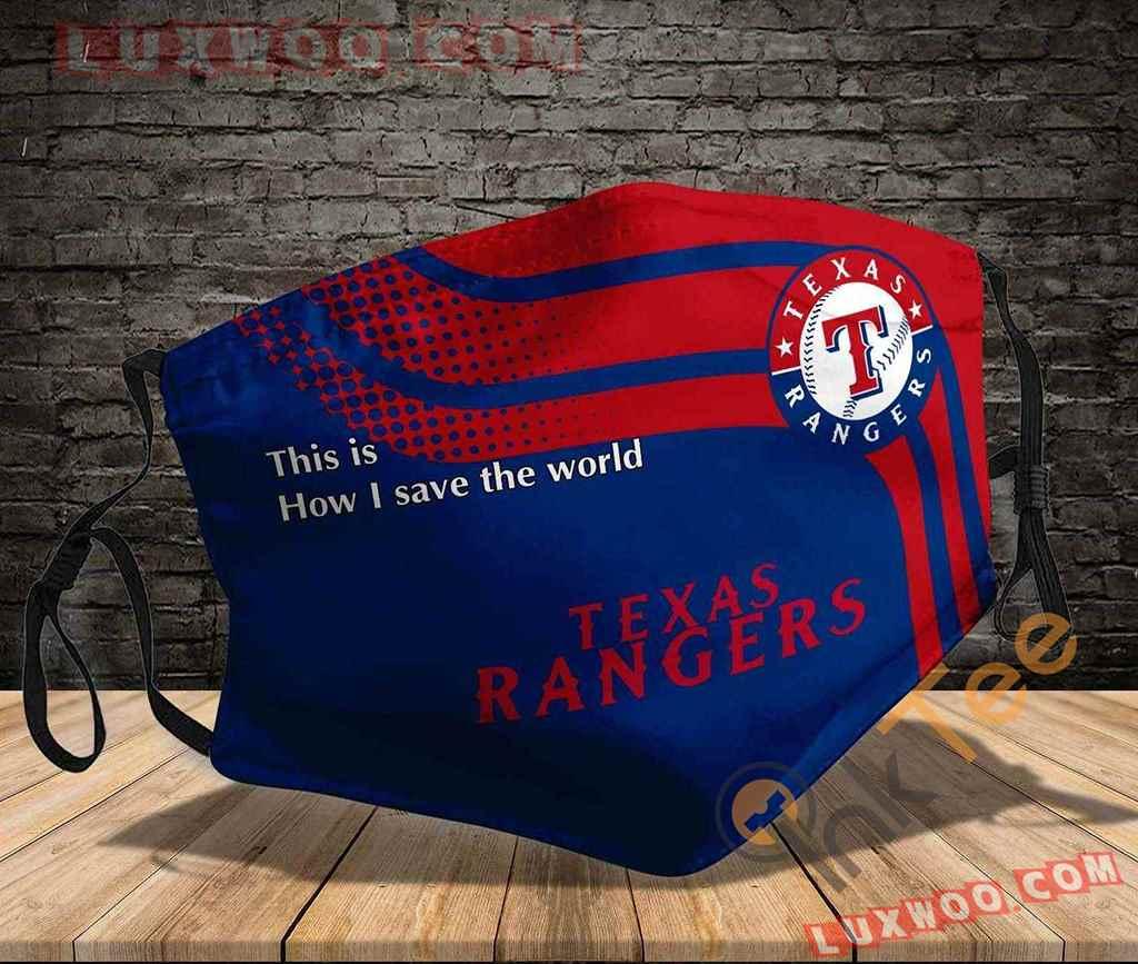 Mlb Texas Rangers 3d Face Mask V1