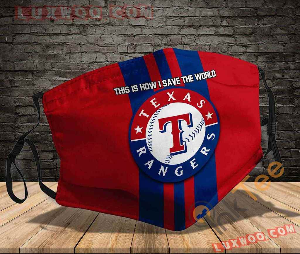 Mlb Texas Rangers 3d Face Mask V2