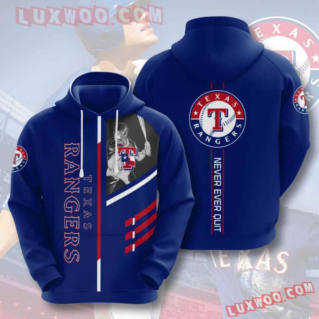 Mlb Texas Rangers 3d Hoodies Printed Zip Hoodies Sweatshirt Jacket V1