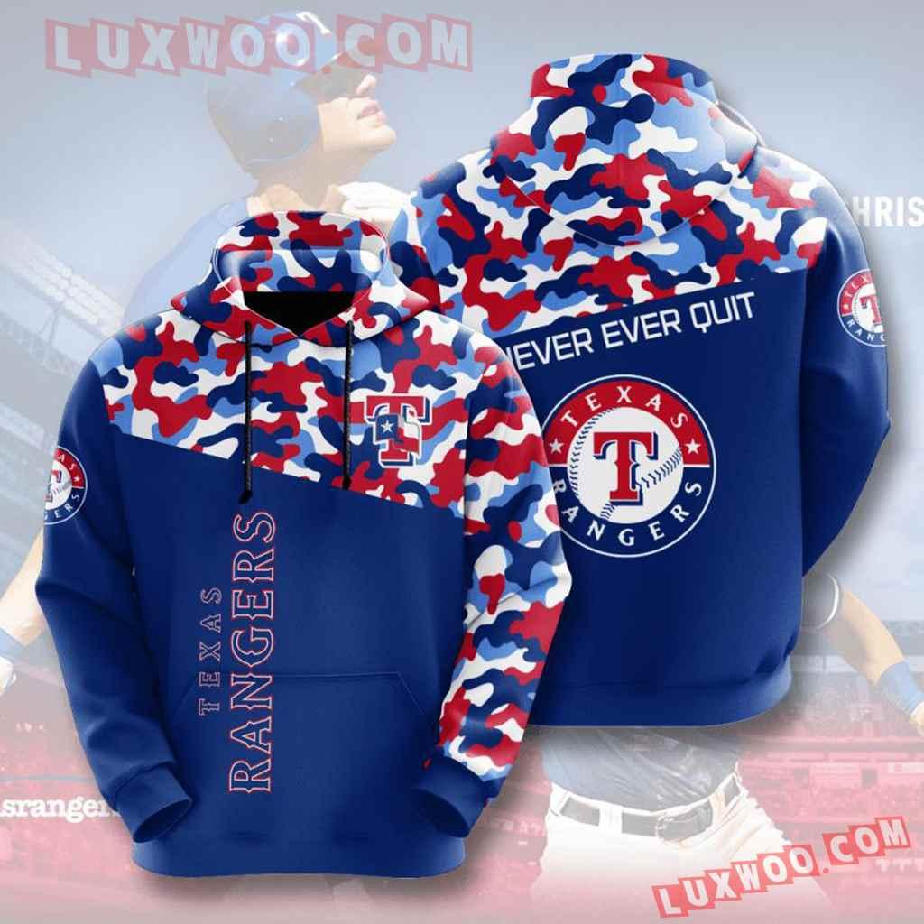 Mlb Texas Rangers 3d Hoodies Printed Zip Hoodies Sweatshirt Jacket V2