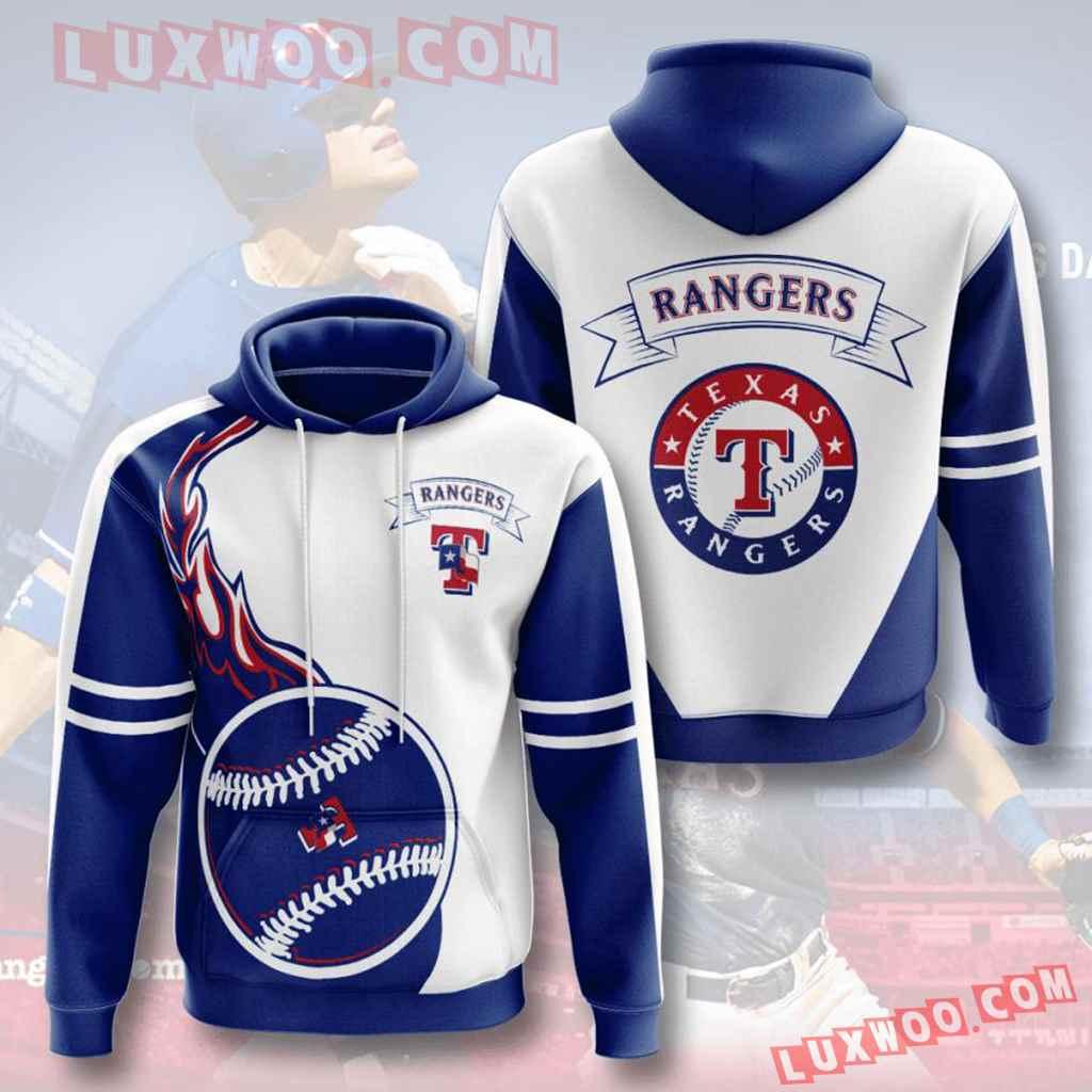 Mlb Texas Rangers 3d Hoodies Printed Zip Hoodies Sweatshirt Jacket V3