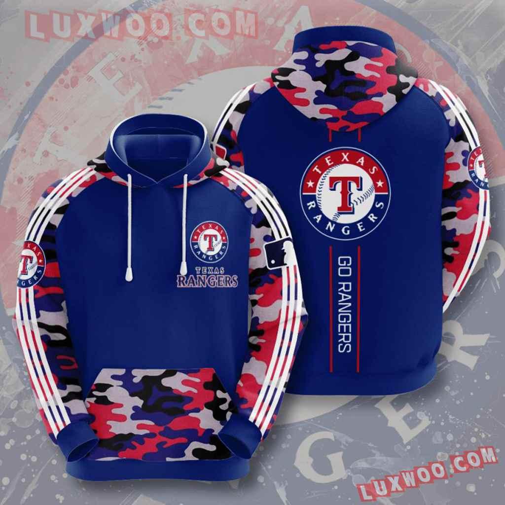 Mlb Texas Rangers 3d Hoodies Printed Zip Hoodies Sweatshirt Jacket V4
