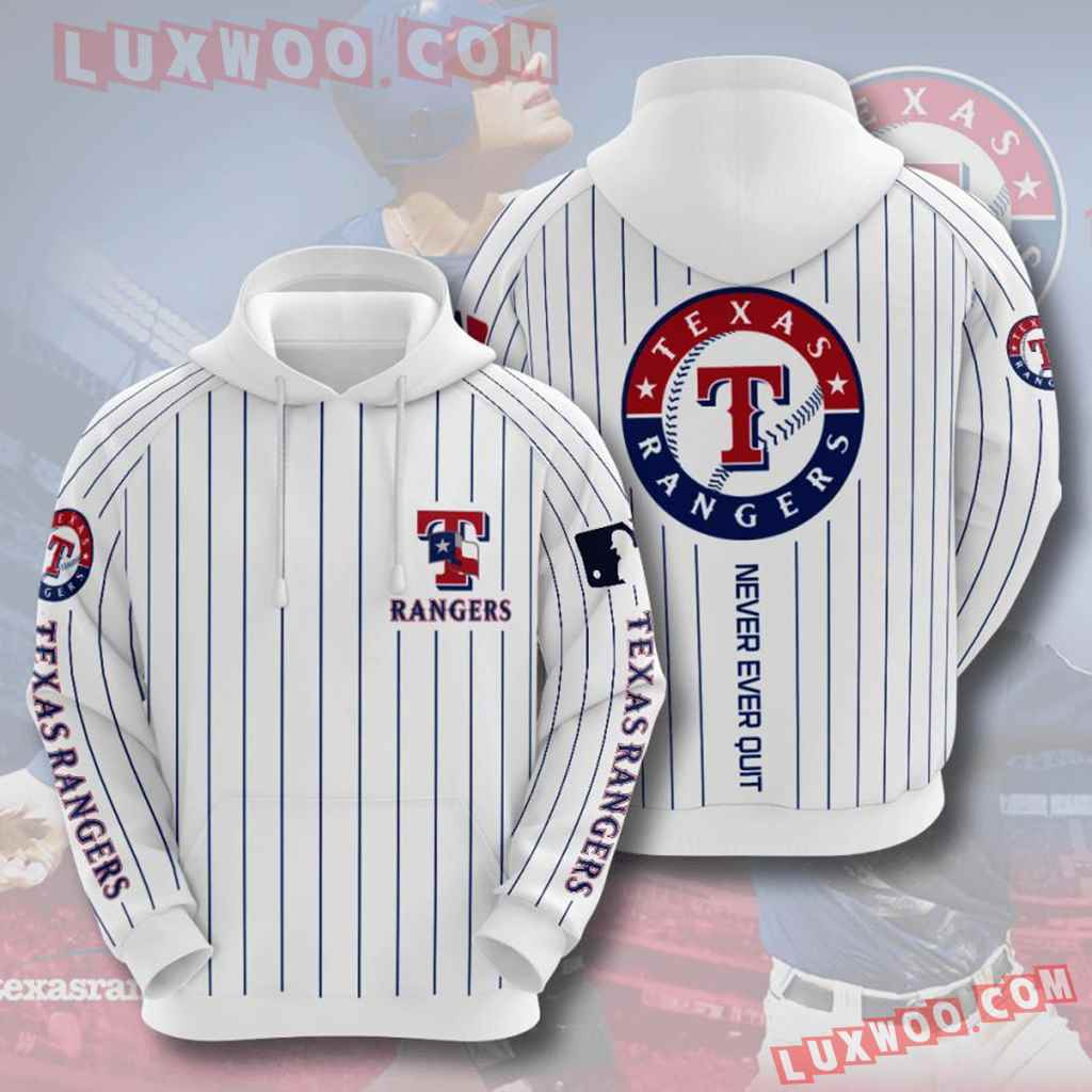 Mlb Texas Rangers 3d Hoodies Printed Zip Hoodies Sweatshirt Jacket V5