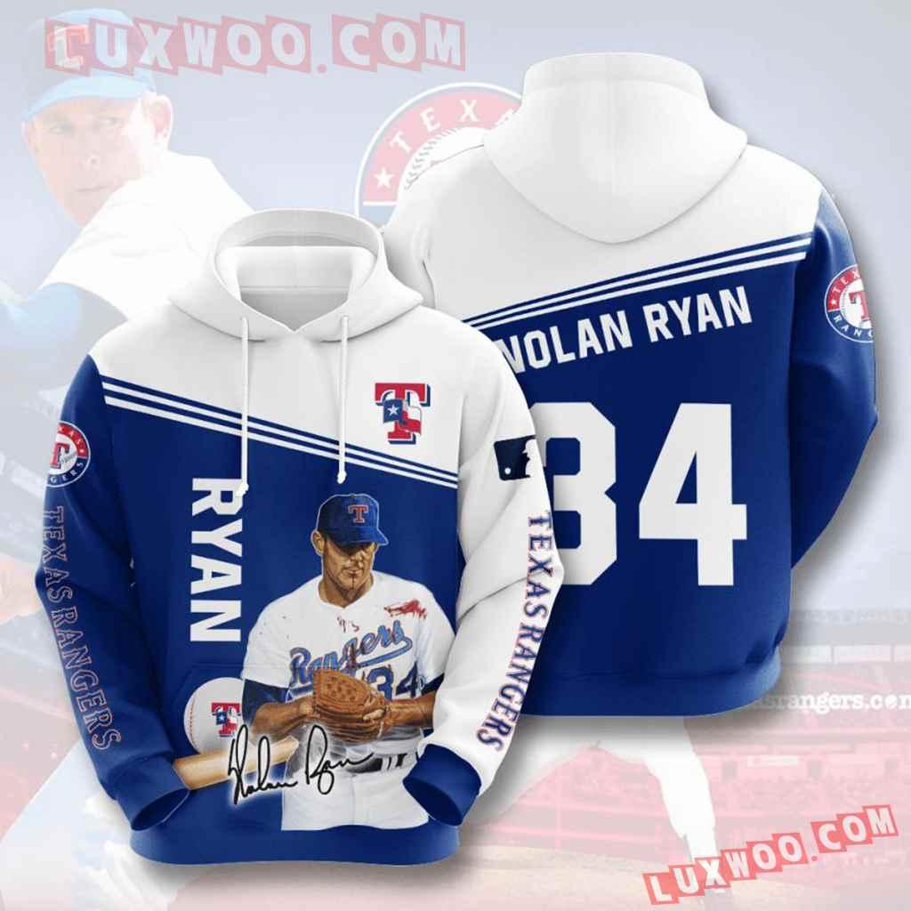 Mlb Texas Rangers 3d Hoodies Printed Zip Hoodies Sweatshirt Jacket V6