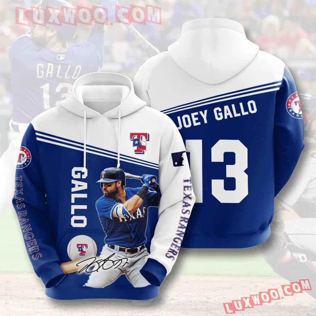 Mlb Texas Rangers 3d Hoodies Printed Zip Hoodies Sweatshirt Jacket V7