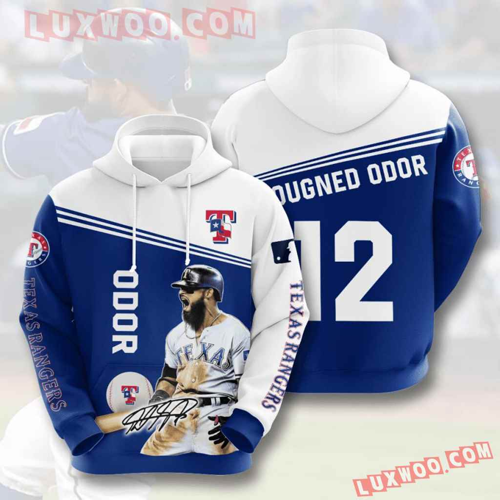 Mlb Texas Rangers 3d Hoodies Printed Zip Hoodies Sweatshirt Jacket V8