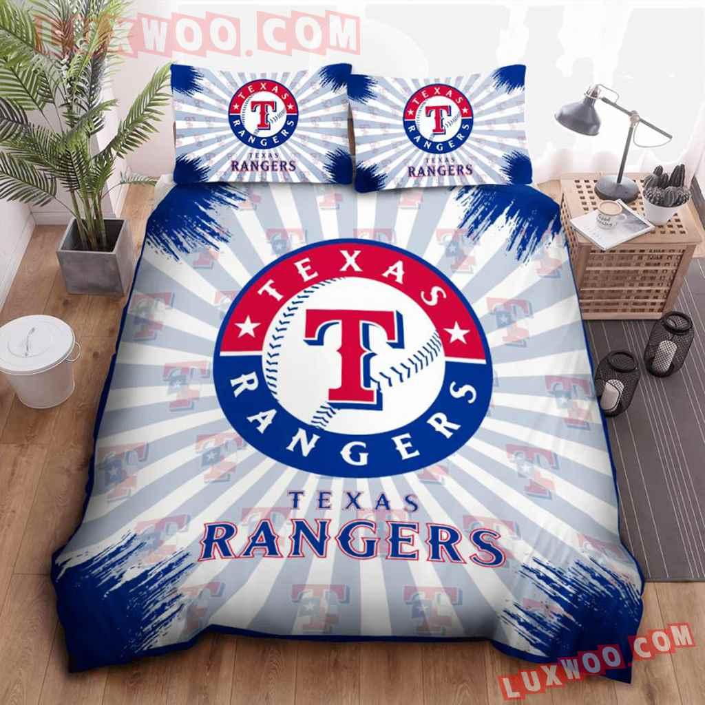 Mlb Texas Rangers 3d Quilt Bedding Set V2