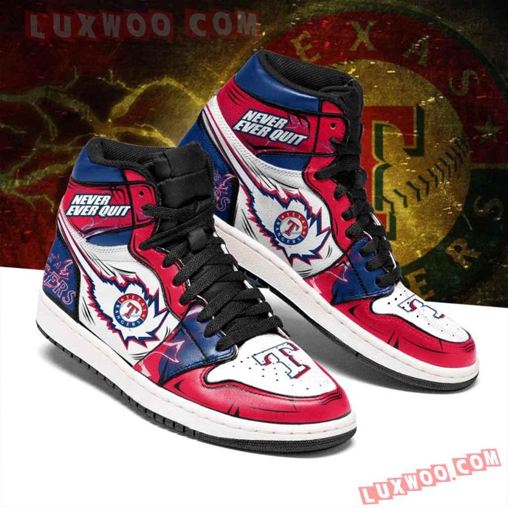 Mlb Texas Rangers Air Jordan 1 Custom Shoes Sneaker V1
