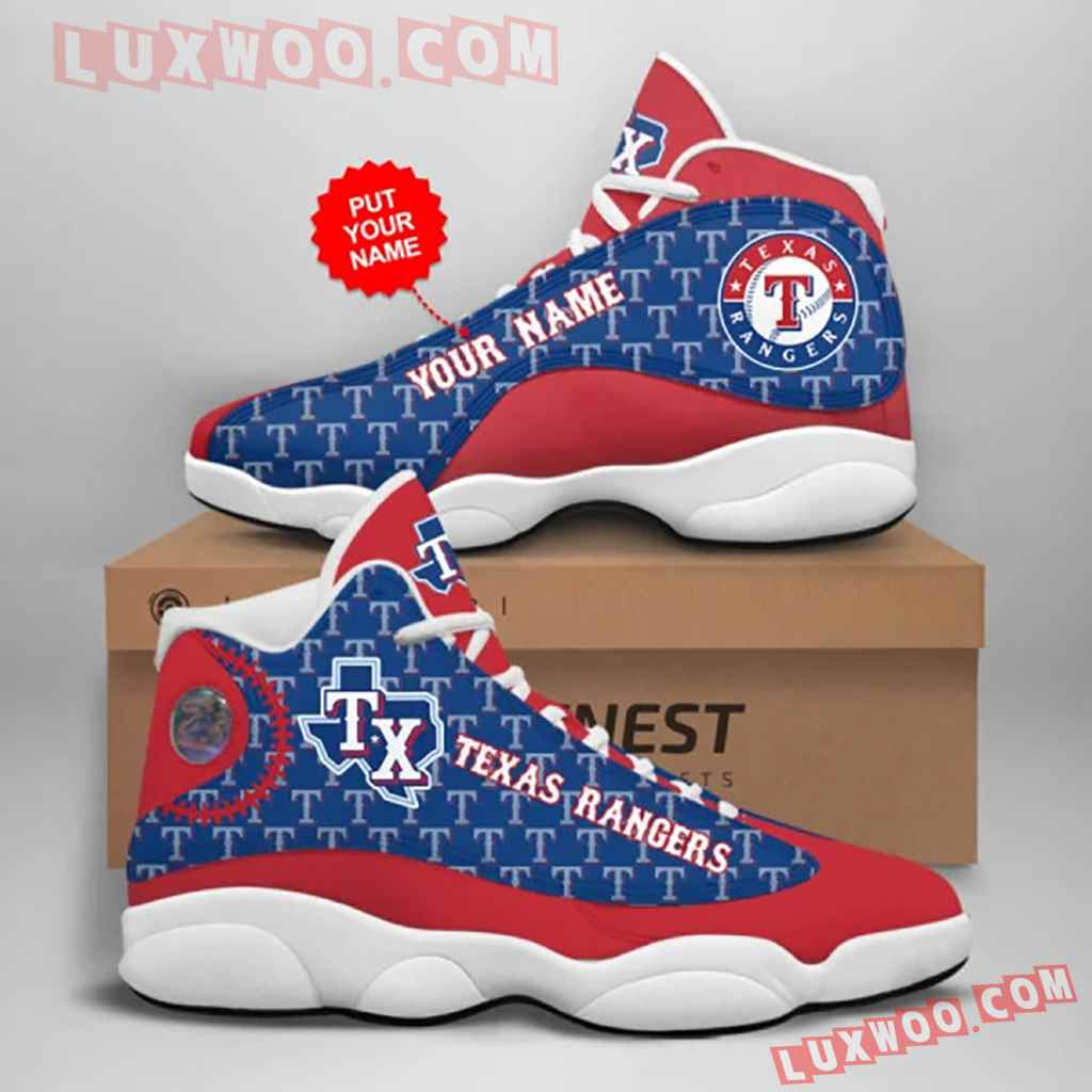 Mlb Texas Rangers Air Jordan 13 Custom Shoes Sneaker V1 Personalized