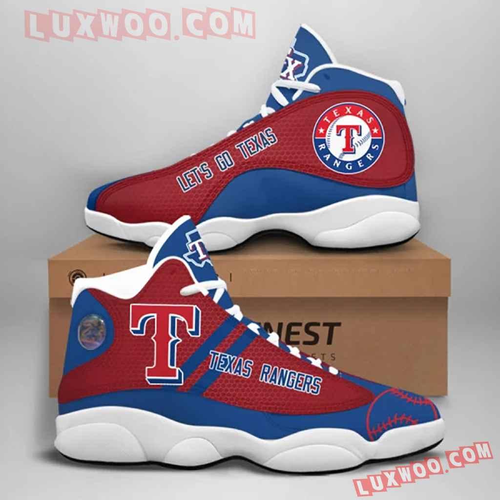 Mlb Texas Rangers Air Jordan 13 Custom Shoes Sneaker V1