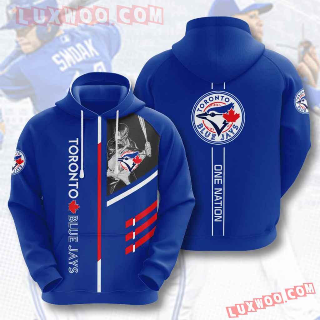 Mlb Toronto Blue Jays 3d Hoodies Printed Zip Hoodies Sweatshirt Jacket V1