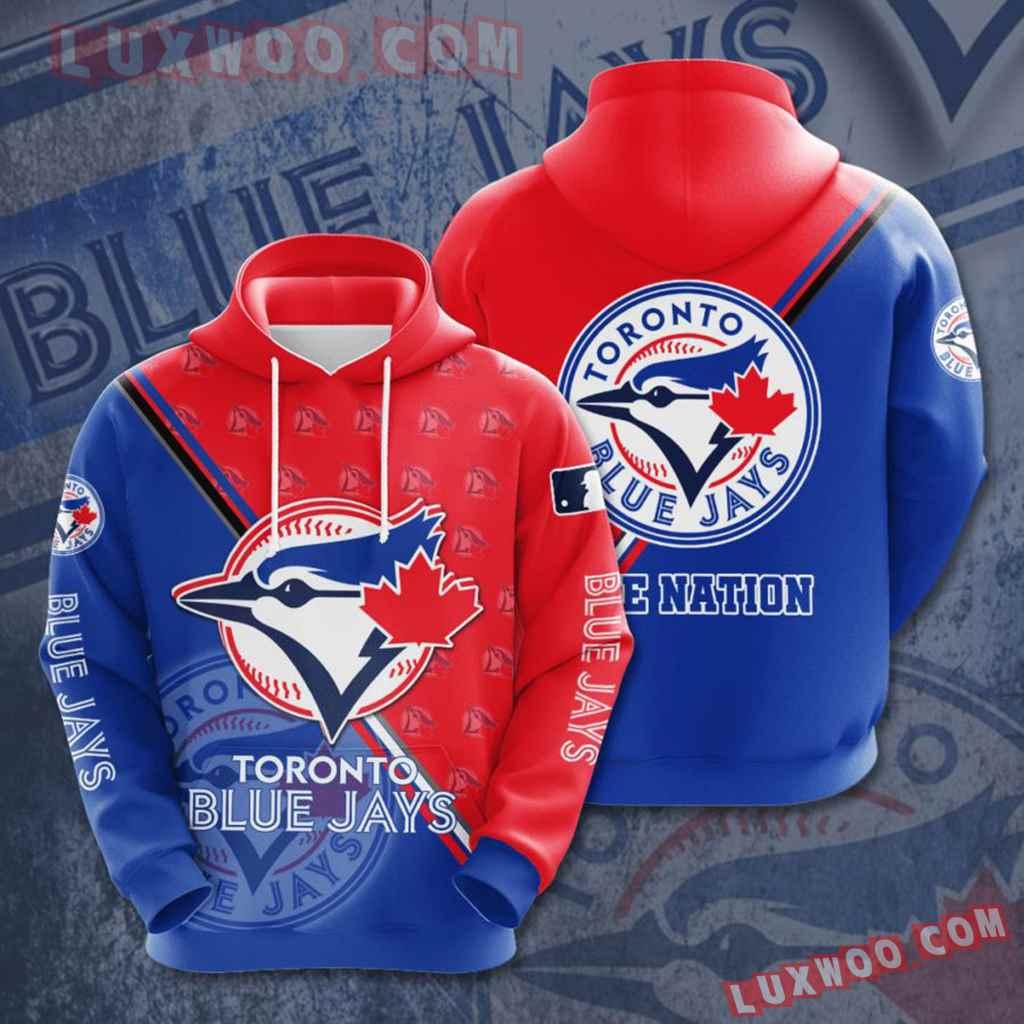 Mlb Toronto Blue Jays 3d Hoodies Printed Zip Hoodies Sweatshirt Jacket V10