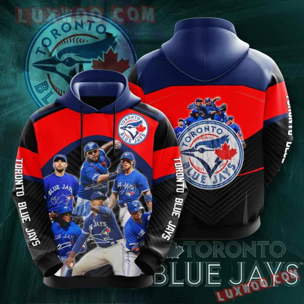 Mlb Toronto Blue Jays 3d Hoodies Printed Zip Hoodies Sweatshirt Jacket V11
