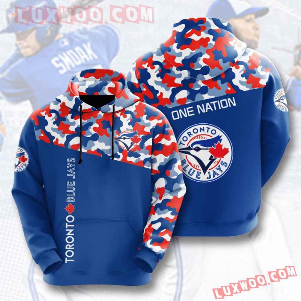 Mlb Toronto Blue Jays 3d Hoodies Printed Zip Hoodies Sweatshirt Jacket V2