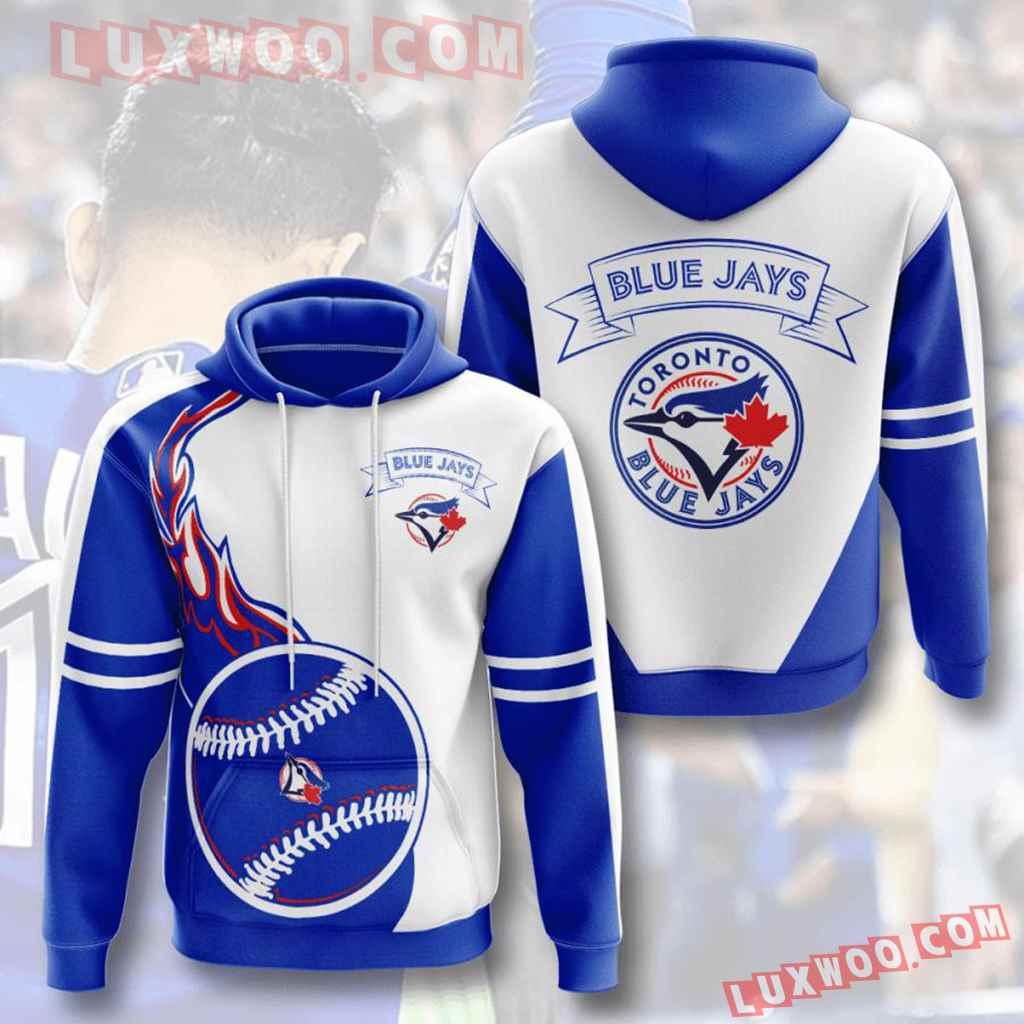 Mlb Toronto Blue Jays 3d Hoodies Printed Zip Hoodies Sweatshirt Jacket V3
