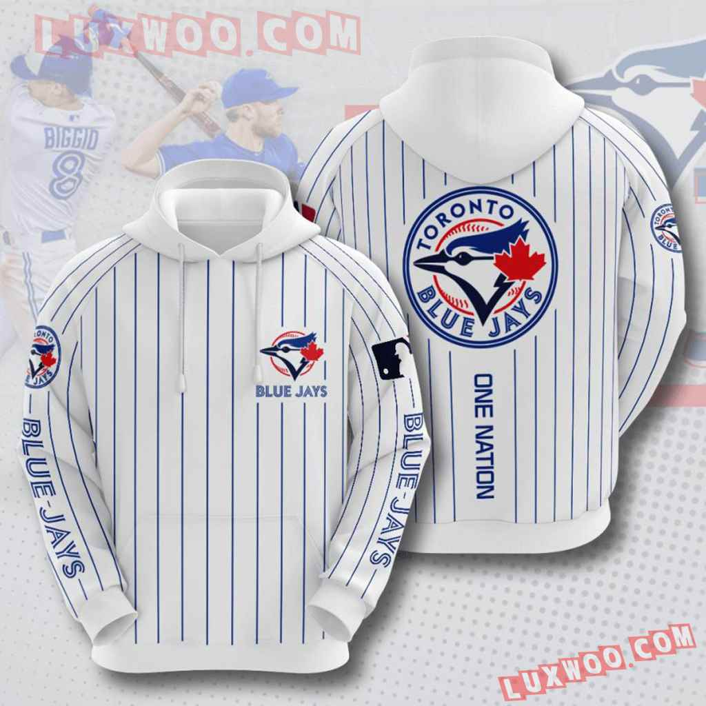 Mlb Toronto Blue Jays 3d Hoodies Printed Zip Hoodies Sweatshirt Jacket V5