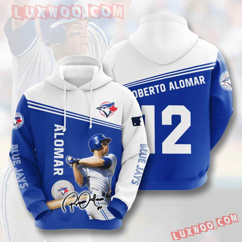 Mlb Toronto Blue Jays 3d Hoodies Printed Zip Hoodies Sweatshirt Jacket V8