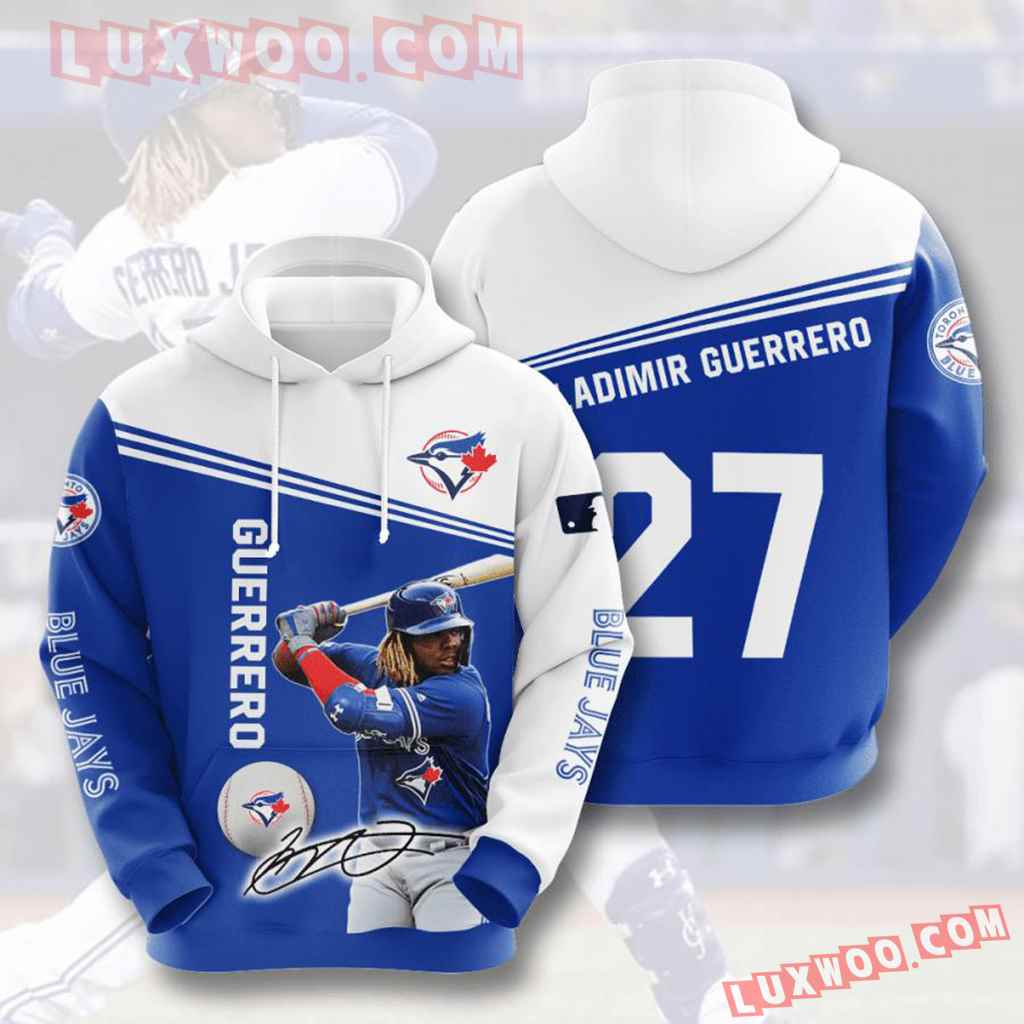 Mlb Toronto Blue Jays 3d Hoodies Printed Zip Hoodies Sweatshirt Jacket V9